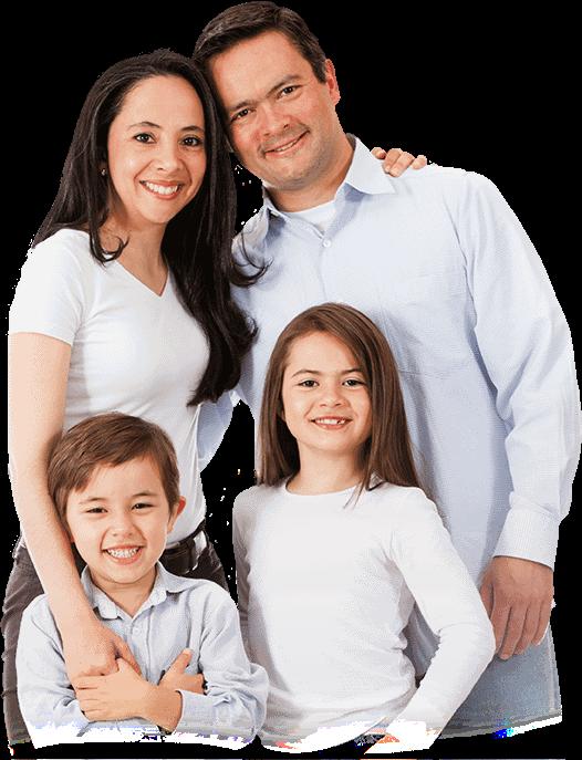 family smiling after dental procedure
