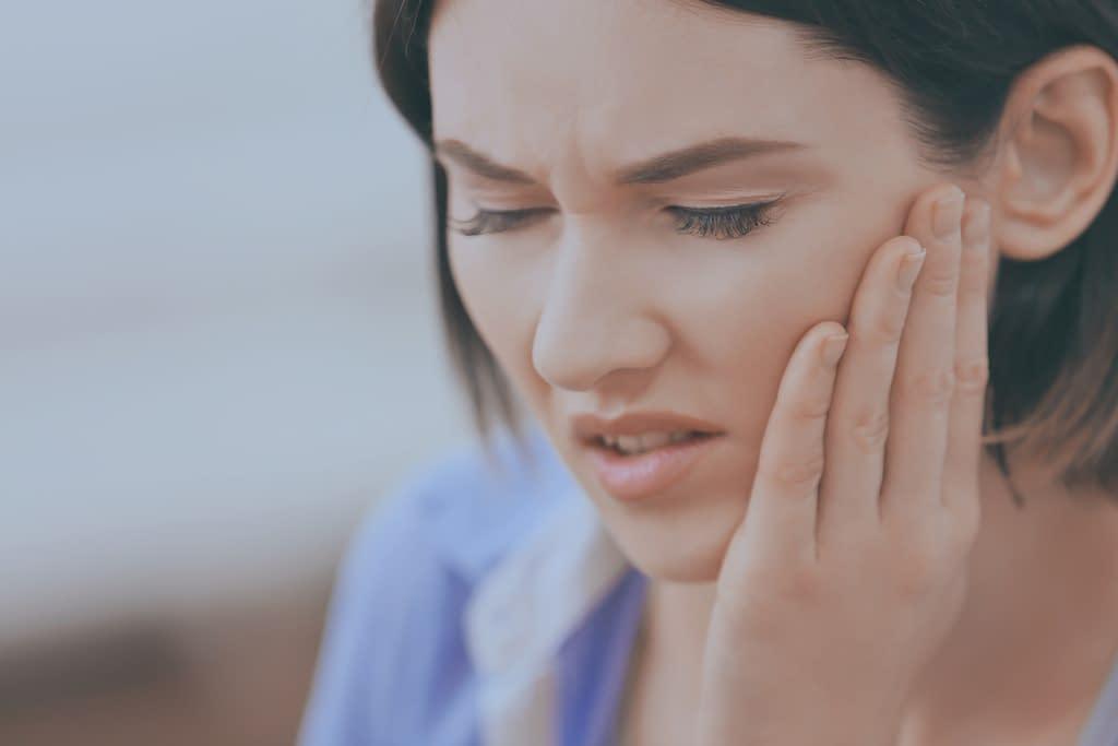 woman in need of jawbone surgery