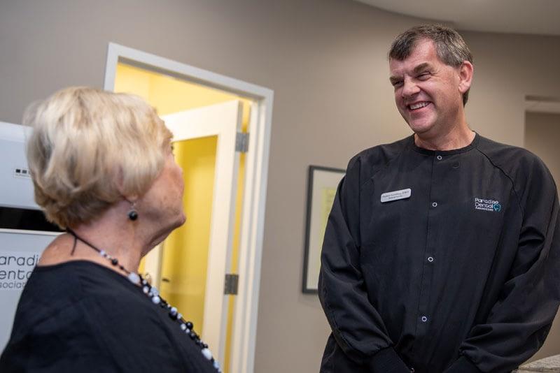 dr hamelburg talking to patient