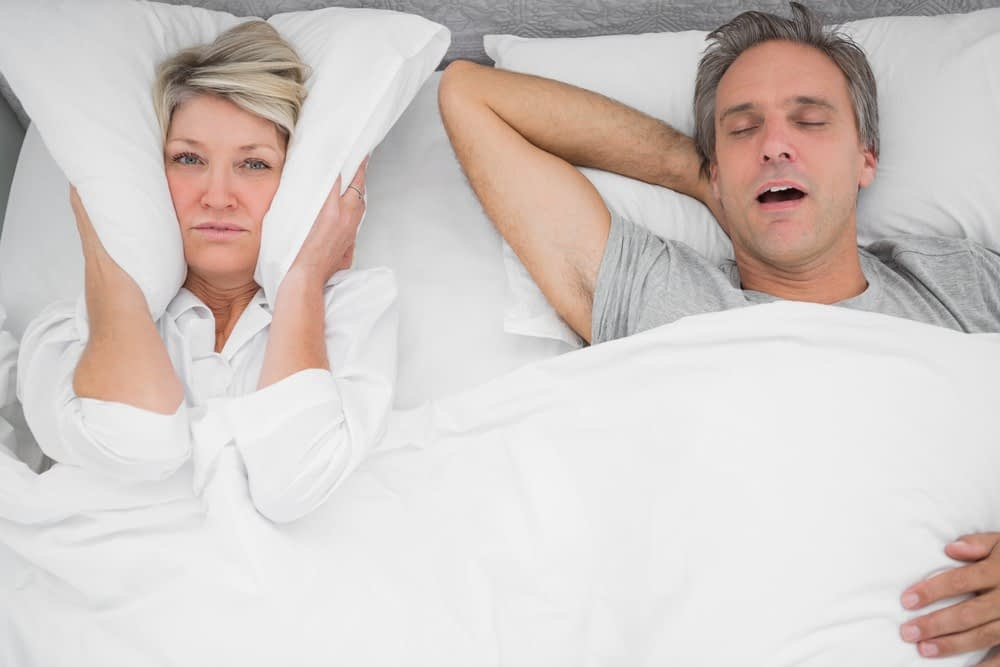 a couple snoring