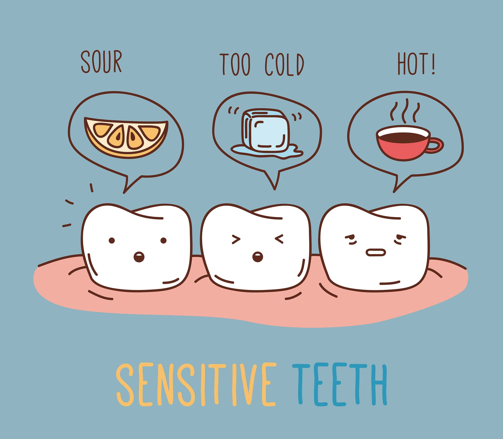 A tooth that's feeling sensitive
