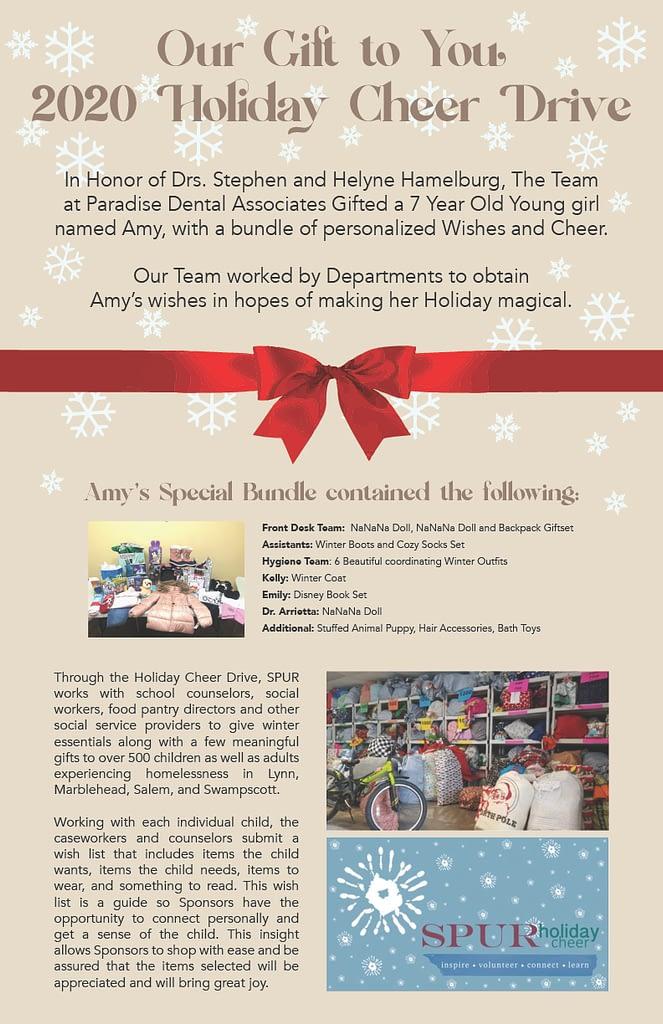 Holiday Cheer Drive Brochure