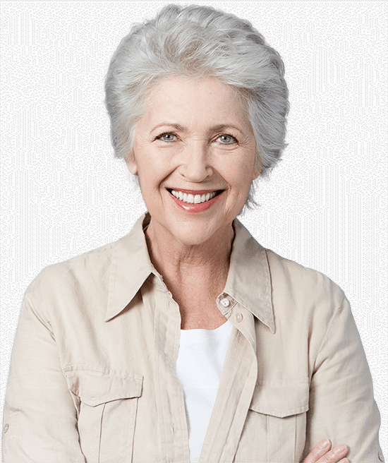 implant supported dentures patient smiling
