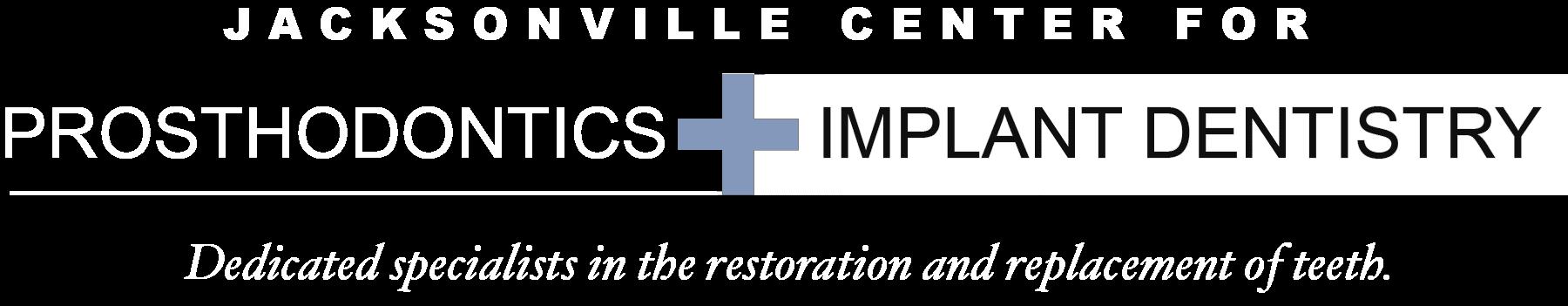 Jacksonville Center for Prosthodontics and Implant Dentistry Logo White