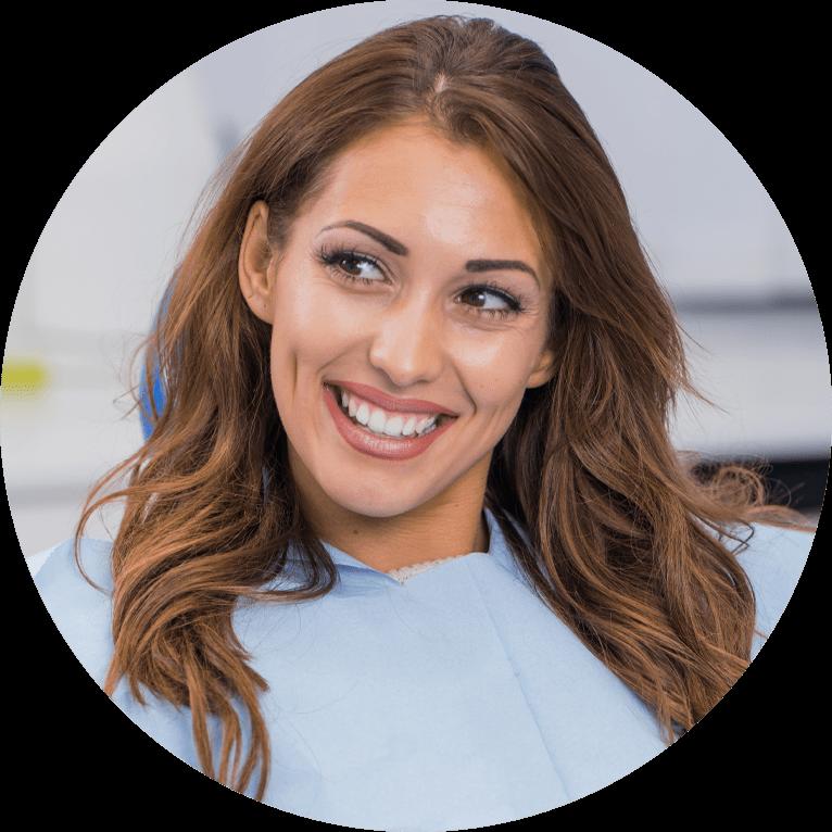 dental restoration patient smiling