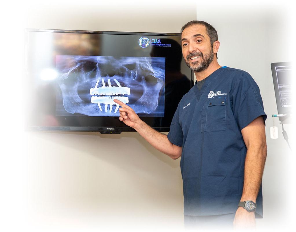 Dr Gonzalez during implant planning stage - Dental Implant Center
