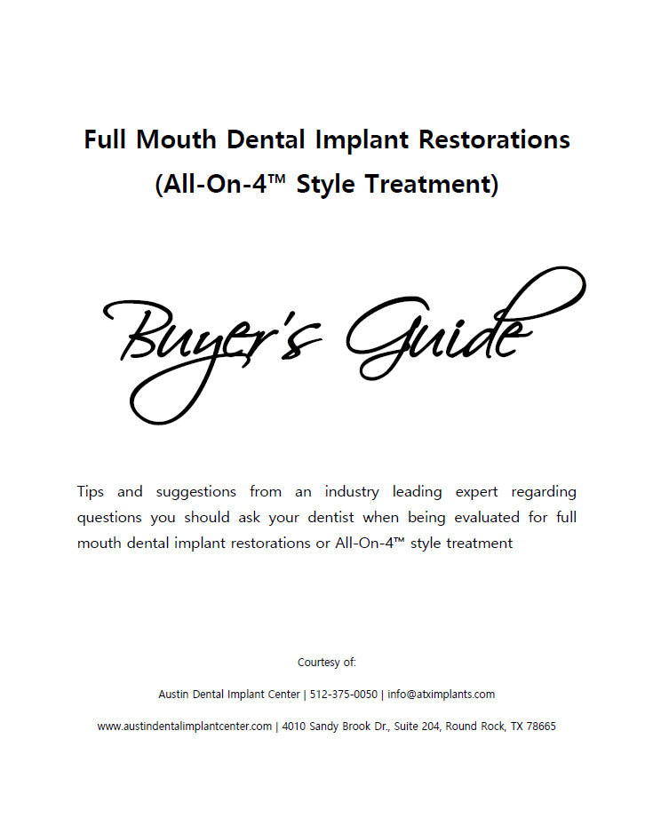 the cover of Full Mouth Dental Implant Restorations (All-On-4 Style Treatment)