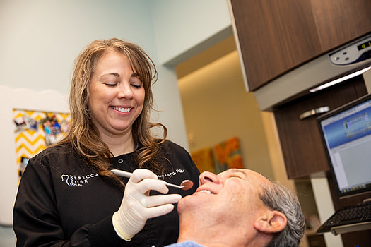 Dr Bork Hygieninst consulting a patient ALLEN, TX