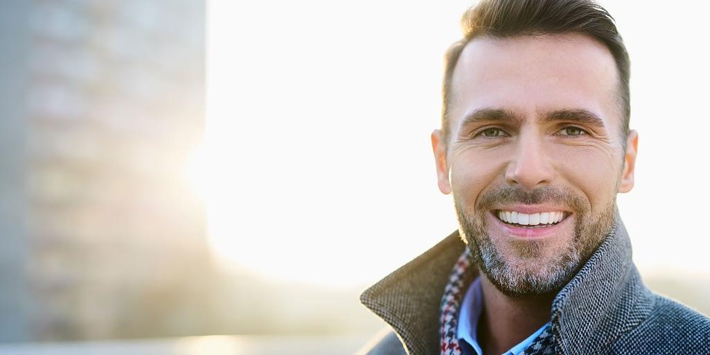 laser resurfacing patient smiling