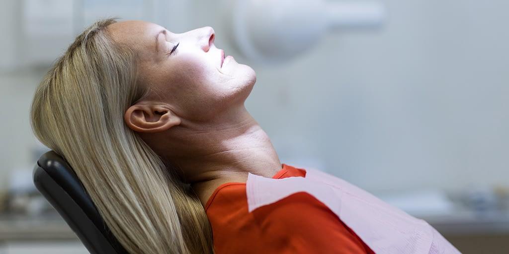 dental patient under sedation