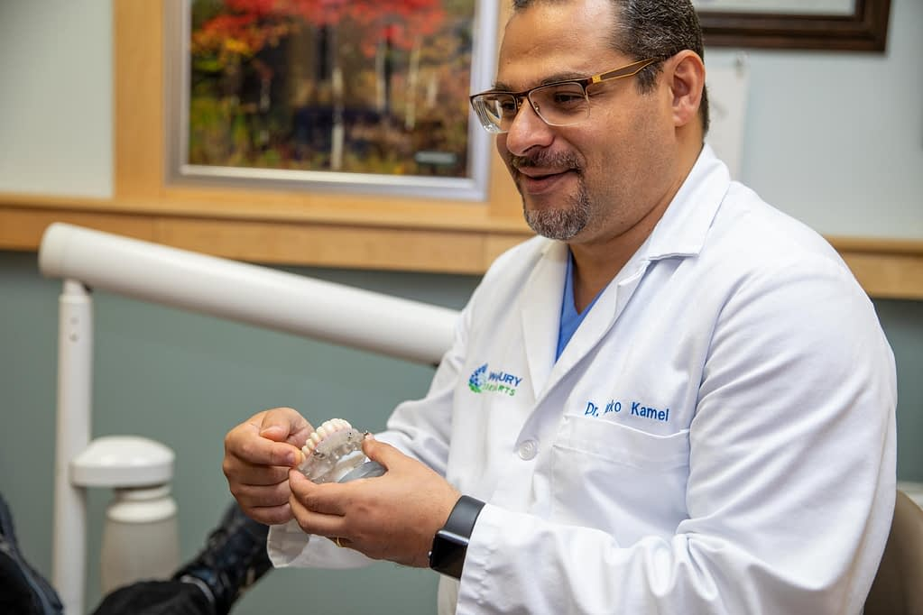 Dr. Kamel explains procedure to patient - Woodbury, MN