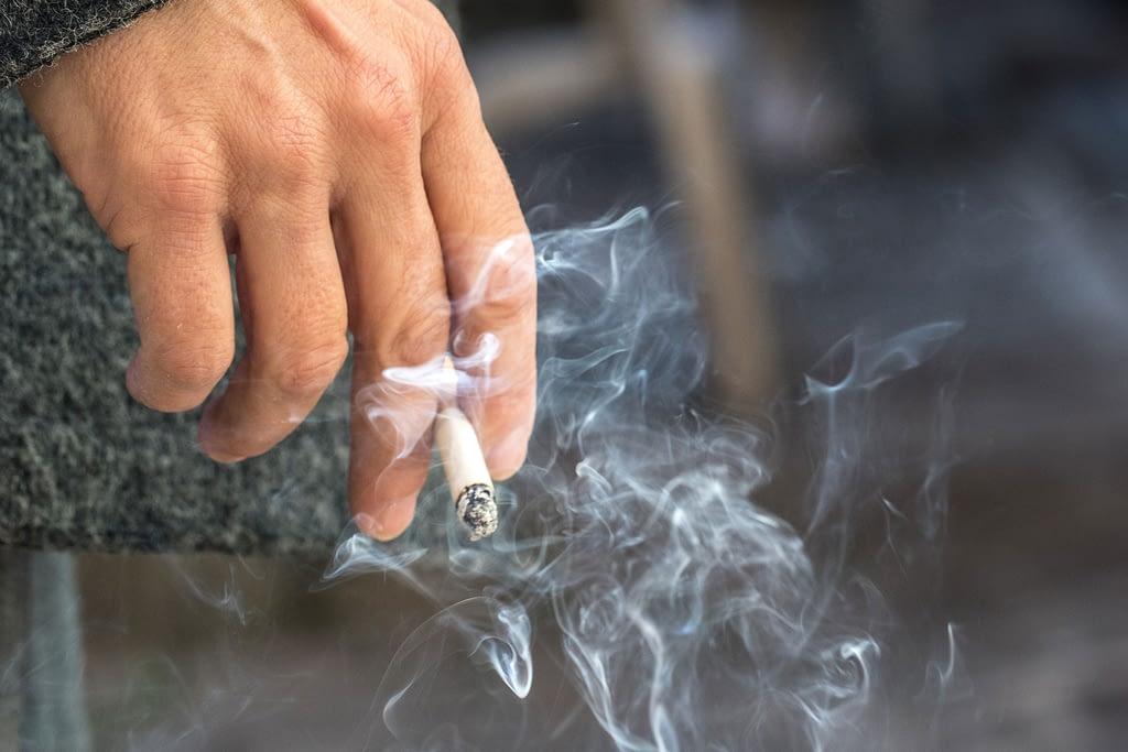dental patient smoking a cigarette Dana Point CA