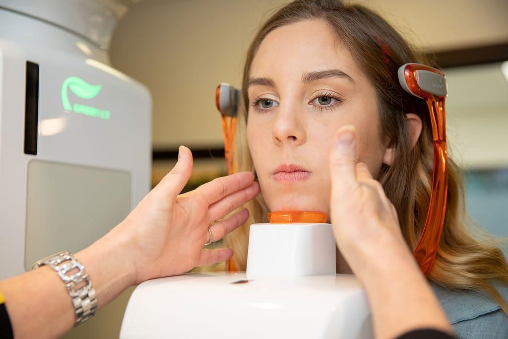 patient undergoing dental scan Dana Point CA