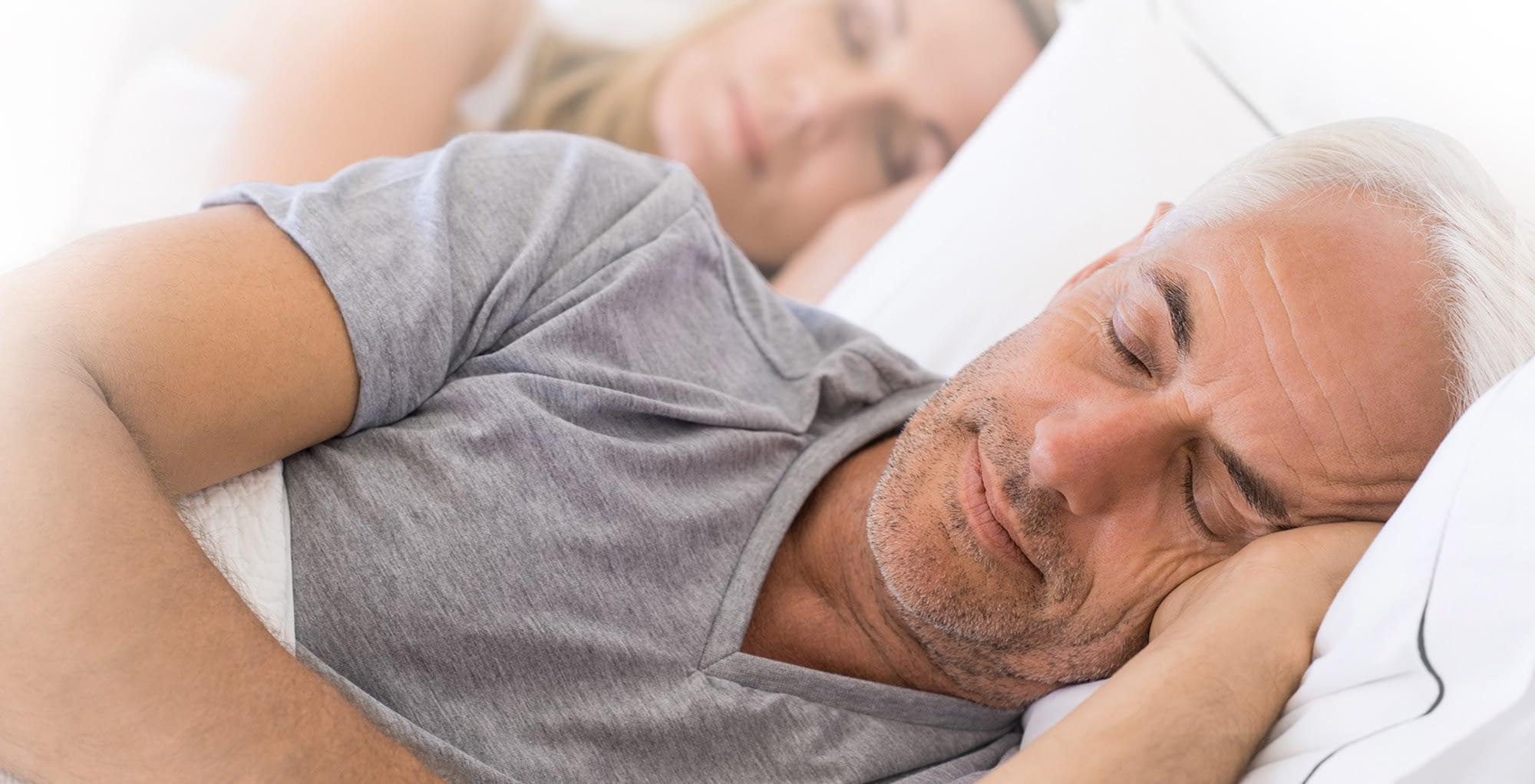 A man sleeping quiet after sleep apnea treatment Brownstown, MI