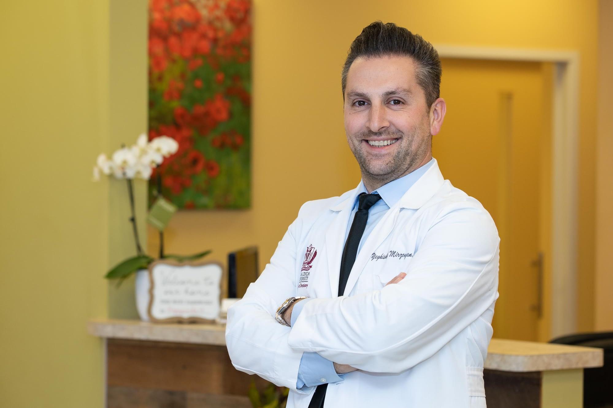 Dr Mirzoyan talking about dental implants Van Nuys, CA