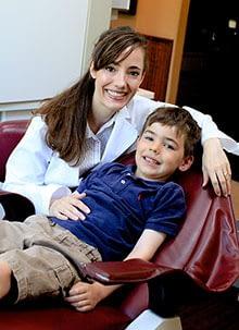 Dr. Bork with a child patient ALLEN, TX