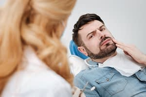 Dental Patient In Wisdom Tooth Pain