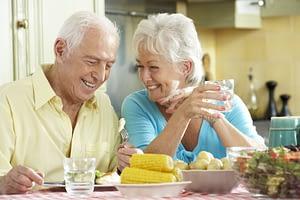 Dental Implant Patients Eating Dinner Together