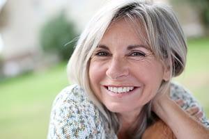 Dental Patient Smiling, Free Of Gum Disease