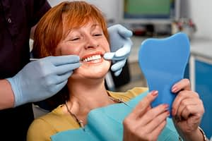 Full Arch Dental Implant Patient Getting A Bone Graft