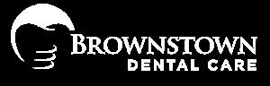 Brownstown Dental Care Logo - White