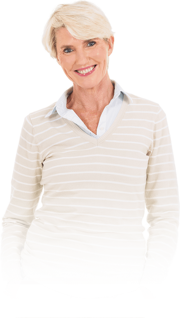 patient smiling after implant supported dentures procedure Dana Point CA