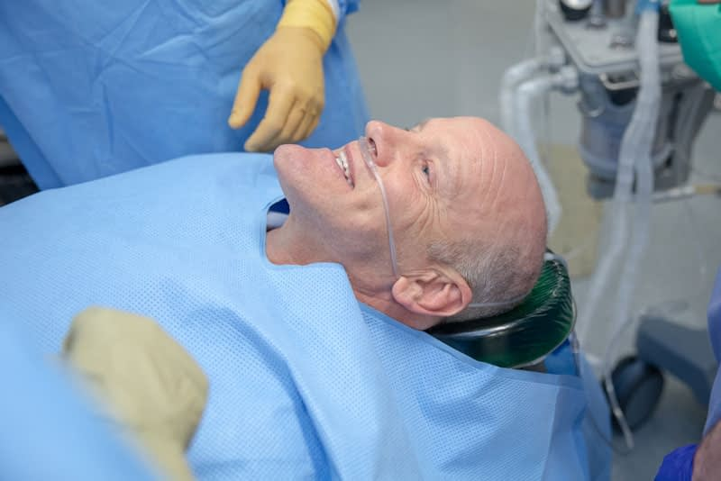 patient undergoing dental procedure Peabody, MA