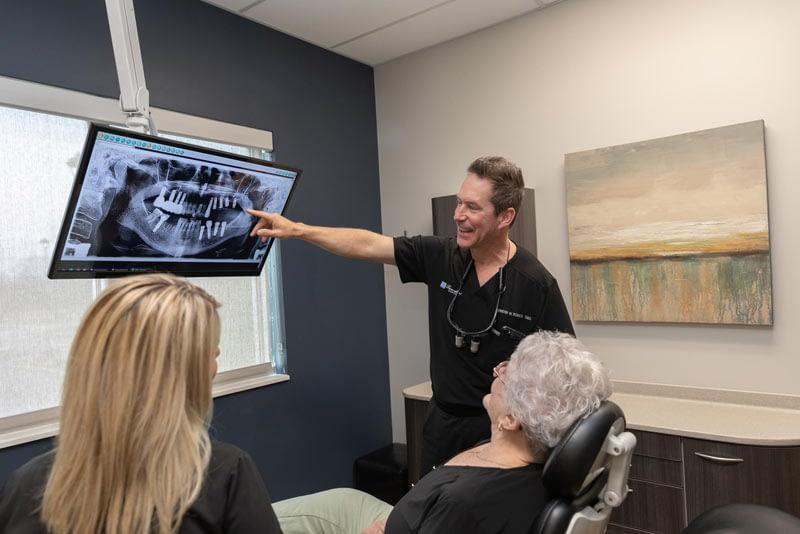 Dr. Romick going over Charlotte's Xrays