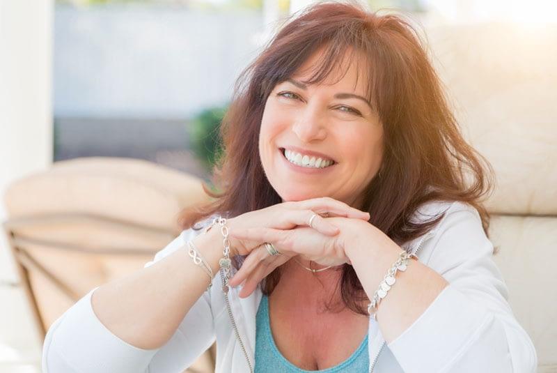 Dental Patient Smiling After Her Dental Implant Procedure