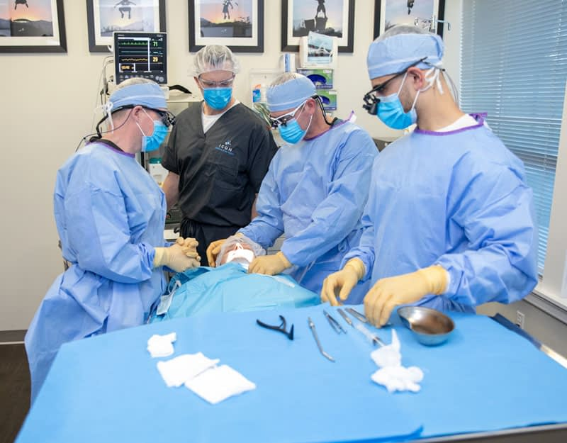 oral surgeons performing dental implant procedure Peabody, MA