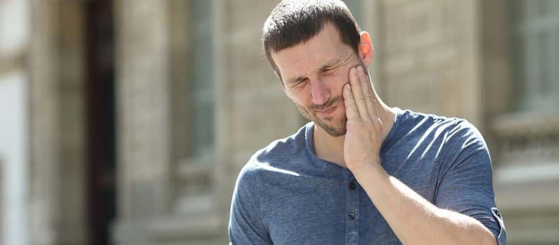 a man in need of TMJ treatment