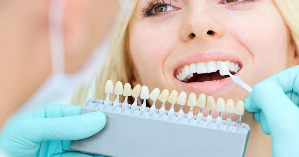 Dental Veneer Patient Receiving Treatment
